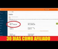 R$7.184,04 em 30 dias como afiliado do Hotmart | Curso Trabalhar Pela Internet agora funciona?